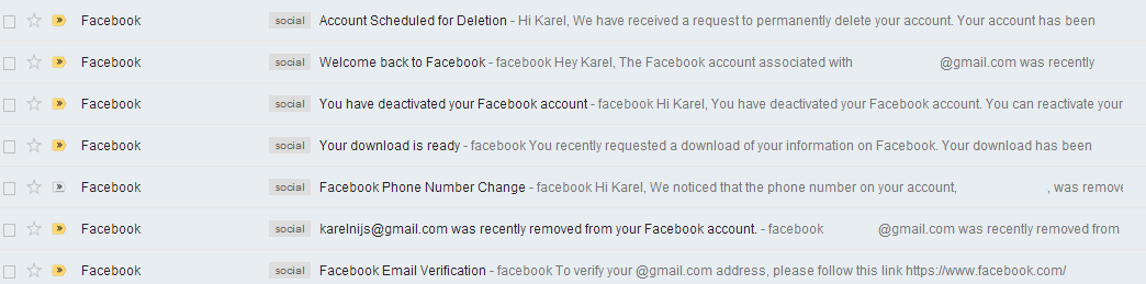 The day i deleted my facebook account no rules just words day one part 3 really deleting my old account ccuart Images