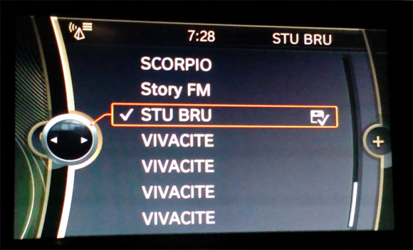 BMW 1 interface - radio